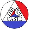 THEPODCASTE red white blue little logo
